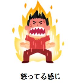 怒っている感じのアイコン画像素材