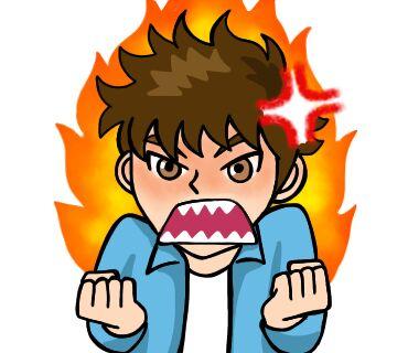 怒っているアイコン画像