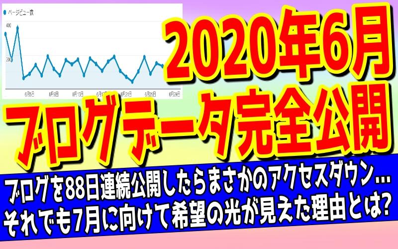 【2020年6月】ブログ収入公開