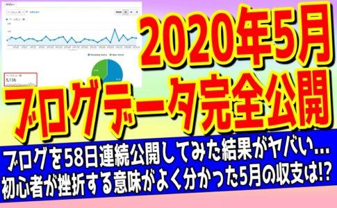 2020年5月のブログデータをまとめた記事のアイキャッチ画像