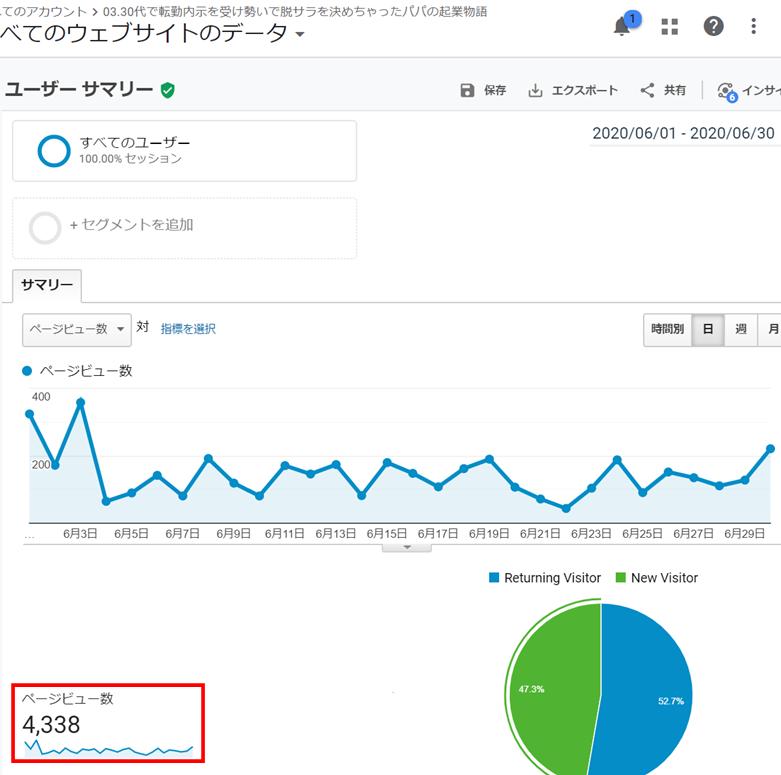 Googleアドセンスの審査に合格した時のブログデータ