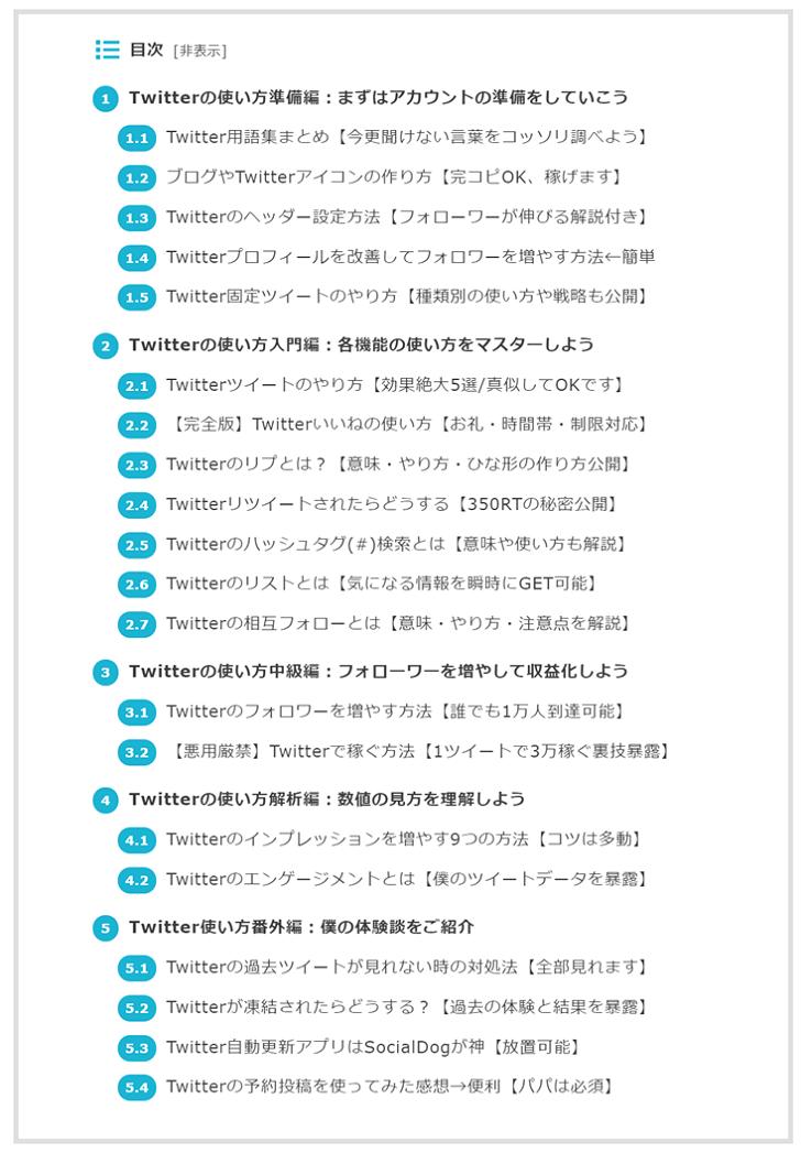 ブログのまとめ記事を作る方法2