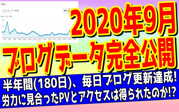 【2020年9月】ブログ収入を公開した記事のアイキャッチ画像