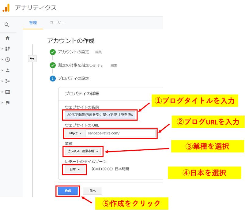 Googleアナリティクスの導入方法4